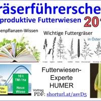 Der Gräserführerschein für 2019, HUMER